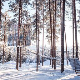 Zweden-Lapland-Harads-treehotel-johan-jansson-mirror-cube-sneeuw