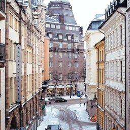 Zweden-Stockholm-winter-steegje
